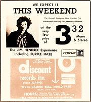 jimi hendrix memorabilia 1967/AD