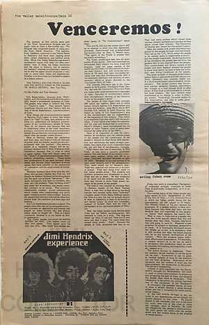 jimi hendrix newspapers 1970 / kaleidoscope april 13-27, 1970 / ad concerts may1 & may 2, 1970