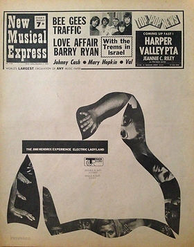 jimi hendrix rotily newspapers new musical express 68