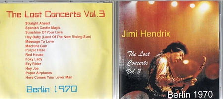jimi hendrix bootlegs cd / the lost concerts vol.3  berlin 1970