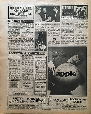 jimi hendrix newspaper/new musical express 23/3/68
