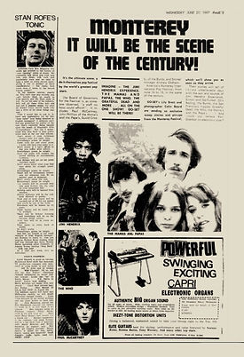 jimi hendrix rotily collector newspapers 1967 / go set june 21, 1967