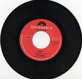 jimi hendrix vinyls singles/angel italy 1971