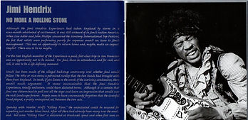 jimi henrix collector bootlegs cd/no more a rolling stone/booklet