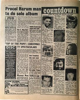jimi hendrix collector newspaper/disc music echo 21/10/67