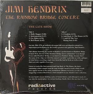 jimi hendrix bootlegs vinyls 1970 / the rainbow bridge concert / the late show
