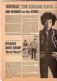 jimi hendrix magazine/hit parader 7/67