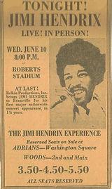 jimi hendrix memorabilia 1970