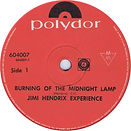 jimi hendrix collector singles vinyls/ burning of the midnight lamp new zealand polydor 1967