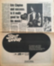 jimi hendrix newspaper 1970 /disc & music echo  feb. 14, 1970 poll results !