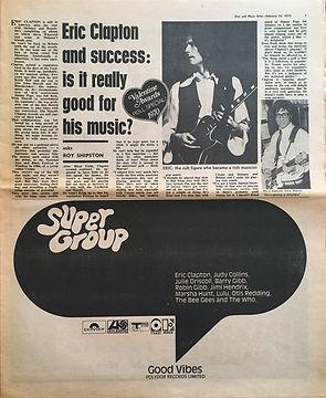 jimi hendrix newspaper 1970 /disc & music echo  feb. 14, 1970 poll results !