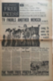 jimi hendrix newspaper/los angeles free press/september 20 1968
