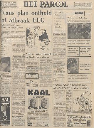 jimi hendrix newspapers 1969 / het parool feb.22, 1969:beste musicus ter wereld!
