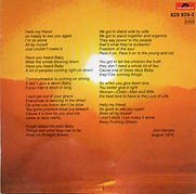 jimi hendrix cd album/cry of love /  1988