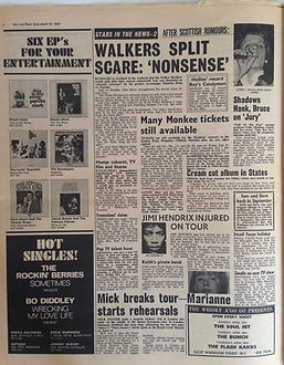 jimi hendrix collector rotily news papers