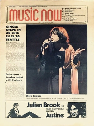 jimi hendrix newspapers 1970 / music now: october 3nd, 1970