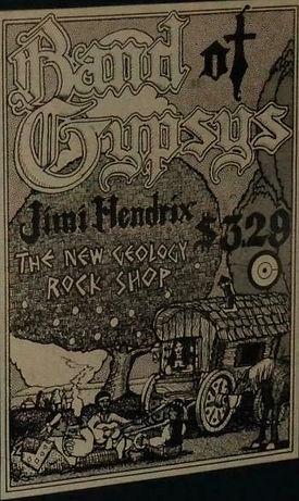 jimi hendrix memorabilia 1970 /  ad : band of gypsys