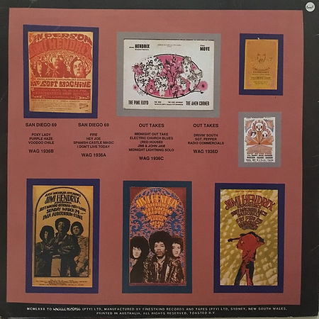jimi hendrix bootleg vinyl album lp/midnight magic