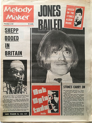 jimi hendrixcollector newspaper/melody maker 4/11/1967