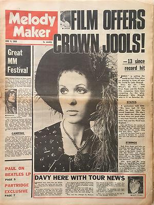 jimi hendrix newspaper/melody maker june 8 1968