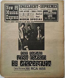 jimi hendrix newspaper/new usial express 27/1/68