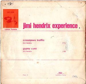 jimi hendrix collector singles vinyls 45t/ crosstown traffic/gypsy eyes barclay france 1968