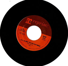 jimi hendrix collector vinyls singles 45r/all along the watchtower mono canada reprise records 1968