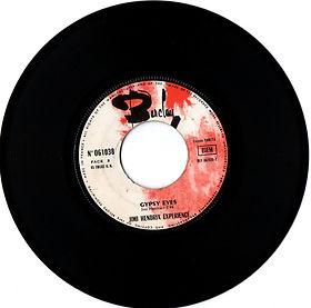 jimi hendrix collector singles vinyls 45t/ side B gypsy eyes barclay 1968 france