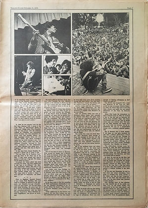 jimi hendrix newspapers 1970 / rolling stone :  october 15  1970 / part 3