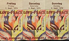 jimi hendrix memorabilia 1970 / tickets isle of fehmarn sept. 6, 1970