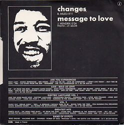 vol 5 /jimi hendrix vinyls singles/changes massage to love barclay 1972