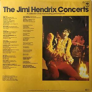 jimi hendrix vinyls album / the jimi hendrix concerts / cbs  holland