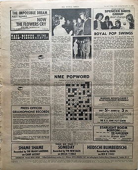 jimi hendrix newspaper 14 1968/new musical express