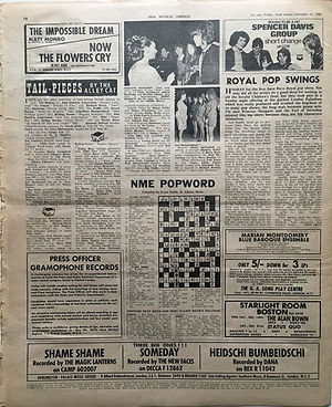 jimi hendrix newspaper 14 1968/new musical express