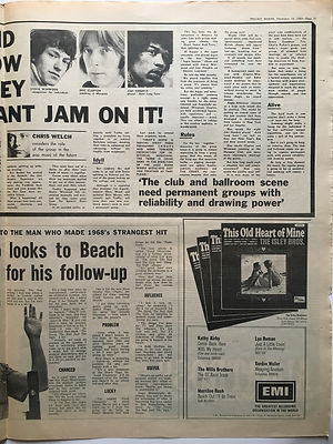 jimi hendrix newspaper 1968/ melody maker december 14 1968