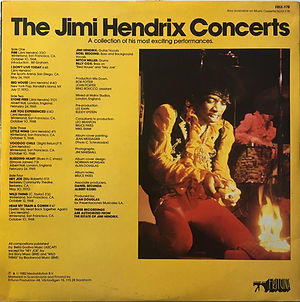jimi hendrix vinyls album / the jimi hendrix concerts / frituna records