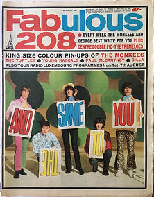 jimi hendrix rotily newspapers collector/fabulous 208  5/8/67