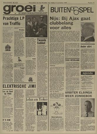 jimi hendrix newspapers 1968/ nieuwsblad van het noorden nov. 15, 1968
