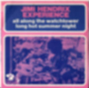 jimi hendrix singles vinyls rotily collector/all along the watchtower / long hot summer night barclay 1968