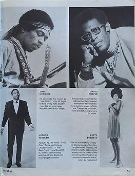 jimi hendrix magazines 1969/soul  autumn 69