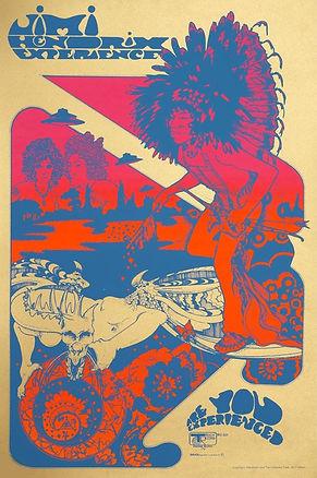 jimi hendrix memorabilia 1967 / poster are you experienced track record 1967