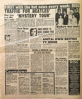 jimi hendrix collector newspaper/30/9/67
