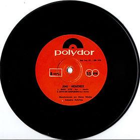 jimi hendrix collector EP vinyls 45r/ gipsy eyes/love or confusion/EP bolivia polydor 1970