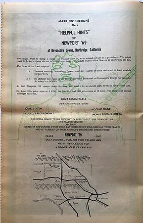 jimi hendrix newspaper 1969/los angeles free press june 6 1969/newport 69 in devonshire downs