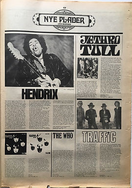 jii hendrix newspaper 1968/superlove november 1968