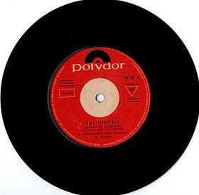 jimi hendrix collector EP vinyls 45r/dide 1/crosstown traffic/51st anniversary polydor uruguay 1969