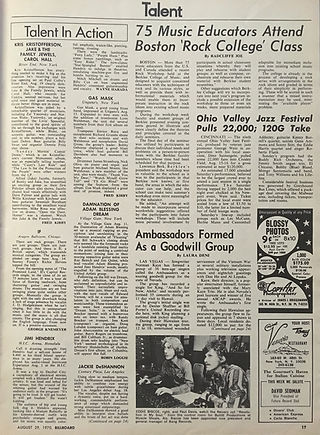 jimi hendrix magazines 1970 / billboard august 29, 1970 / article: