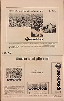 jimi hendrix collector memorabilia/warner bros. pressbook woodstock movie 1970