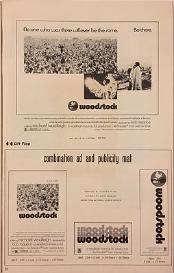 jimi hendrix collector memorabilia/warner bros. pressbook woodstock movie 1970