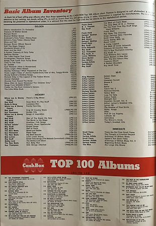 jimi hendrix magazines 1970 / cash box : october 3, 1970 / top 100 albums
